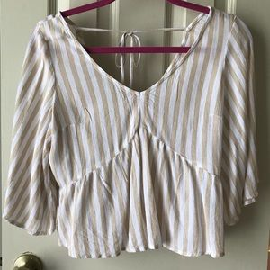Hollister Cream And White Blouse